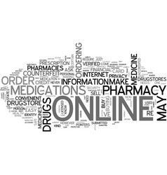 Is it safe to order medicine online text vector