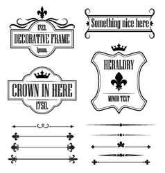 Set of vintage frames borders and deviders vector