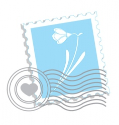 Flower stamp vector