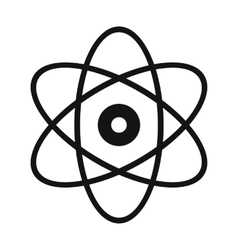 Atom modern simple icon vector
