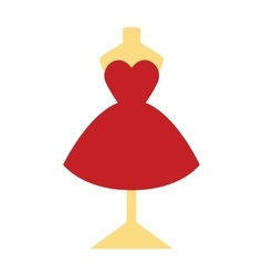 Elegant pretty cocktail evening little red dress vector