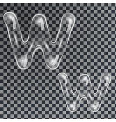 Bubbles letters w vector