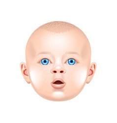 baby face isolated on white vector image vector image