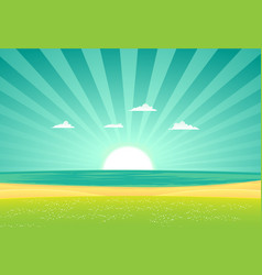 beach beyond the fields vector image vector image