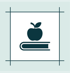book icon education apple sign vector image vector image