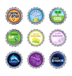 bottle cups vector image vector image