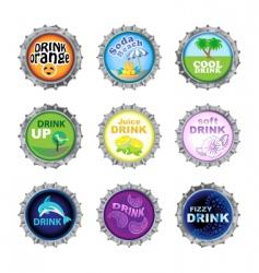 bottle cups vector image
