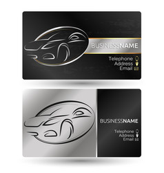 Business card for the car company vector