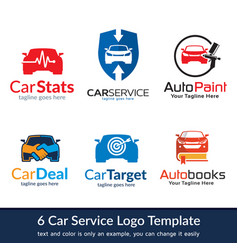 Car service logo template vector