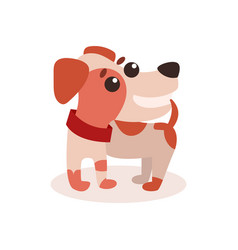 cute funny jack russell terrier dog character vector image vector image