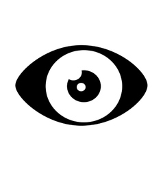 Eye look vision vector