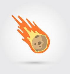 flame meteorite vector image vector image