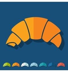Flat design croissant vector image
