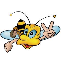 Flying wasp vector