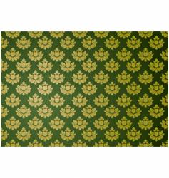 gold and green glamour pattern vector image vector image
