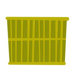 green cargo container cartoon vector image