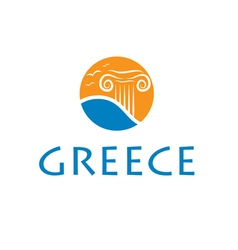 icon greece vector image