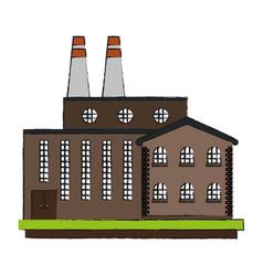 Industrial plant factory vector