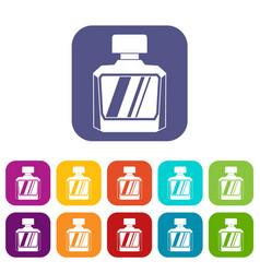 jar of perfume icons set flat vector image vector image