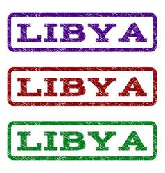 Libya watermark stamp vector