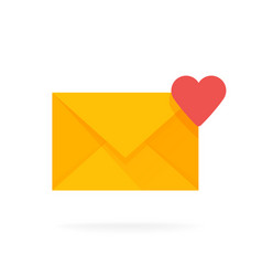 Mail envelope icon with hearts email send message vector