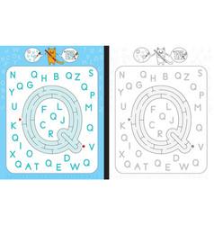 Maze letter q vector