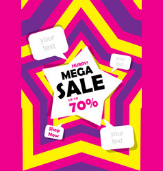 Mega sale banner design vector