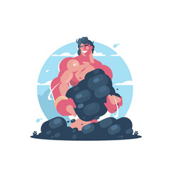 Mythological character of hercules vector