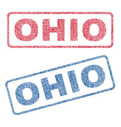 Ohio textile stamps vector