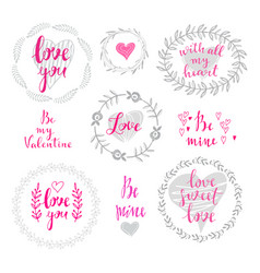 Set of wreath love vector