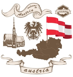 Set with austria vector