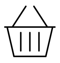 shopping basket pixel perfect thin line icon 48x48 vector image vector image