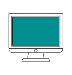 Sketch color silhouette modern display desk vector