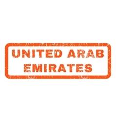United Arab Emirates Rubber Stamp vector image