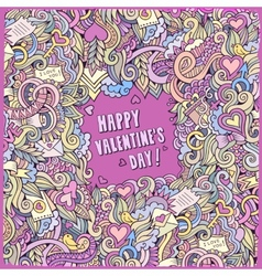 Valentines Day frame background vector image