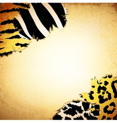 vintage background with some animal print patterns vector image vector image