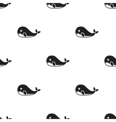 Whale icon in black style isolated on white vector