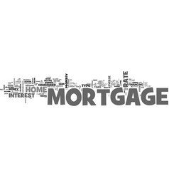 What s a mortgage text word cloud concept vector