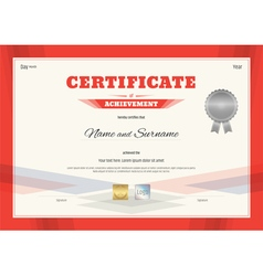 Certificate template in modern red theme vector