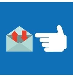 Smartphone concept email message speak icon vector
