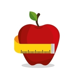Apple measuring nutrition sport vector