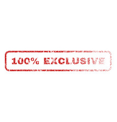 100 percent exclusive rubber stamp vector