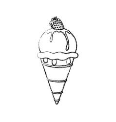 Delicious ice cream vector