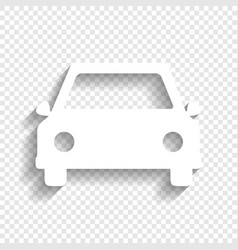 Car sign   white icon with vector