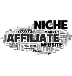 what s a niche and can i find one too text word vector image