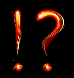 Fiery question mark vector