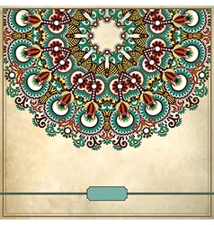 Ornamental floral circle pattern vector