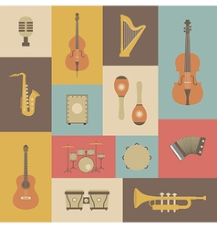 161grunge music instrument vector