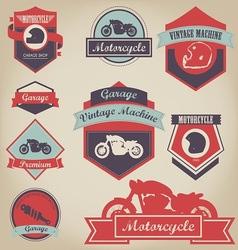 Motorcycle Shop Label Design 2 vector image