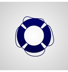 lifebuoy icon vector image